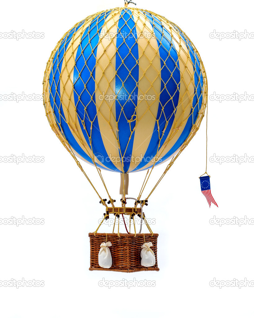 spielzeug hei luftballon mit korb stockfoto fotogudkov 22501607. Black Bedroom Furniture Sets. Home Design Ideas