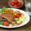 Grilled pork chops — Stock Photo