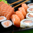 Japanese food - Sushi and sashimi — Stock Photo