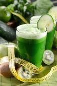 Grön smoothie — Stockfoto