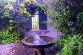 Fountainh na terase — Stock fotografie