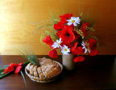 Still life with poppies — Stock Photo