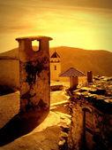 Sunrise in pitres,alpujaras,spain — Stock Photo