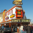 Geno's cheesesteak — Stock Photo