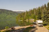 Alaskan campground — Stock Photo