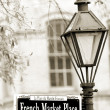 French Marketplace sign — Stock Photo