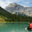 Emerald lake - Stock Photo