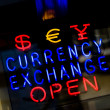 Currency exchange sign — Stock Photo #20832059