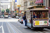 San Francisco cable car at Union Square — Stock Photo
