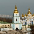 Famous St Andrew Church in Kiev, Ukraine - Foto Stock