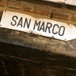 Directions to San Marco Square — Stock Photo