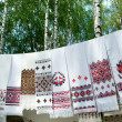 Stock Photo: Ukrainiembroidery on towels