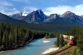 Canadian Pacific railway — Stock Photo