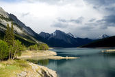 Rockies and Maligne lake — Stock Photo
