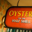 Stock Photo: Oysters on the half shell
