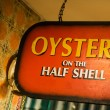 Oysters on the half shell — Stock Photo