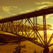 Stock Photo: Deception Pass Bridge