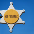 Stock Photo: City sign in Old Town of Scottsdale