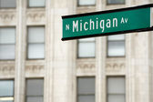 Michigan Avenue street sign — Stock Photo
