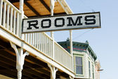 Sign for available rooms — Stock Photo