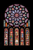 Vitrages of Chartres cathedral — Stock Photo