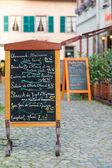 Elzasser menu — Stockfoto