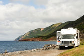 RV at picnic area — Stockfoto