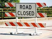 Road closure — Stock Photo