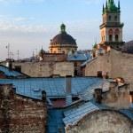 Dormition Church at sunset,Lviv — Stock Photo #48579163