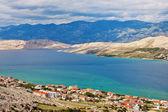 Panorama of Pag city,Croatia — Stock fotografie