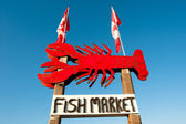 Fish market banner — Stock Photo