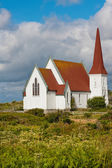 Picturesque church in Peggys Cove — Stock Photo
