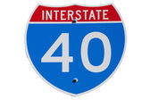 American Interstate I-40 sign — Stock Photo