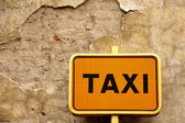Taxi stop, Mantova, Northern Italy — Stock Photo