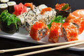 Closeup of japanese seafood sushi — Stock Photo