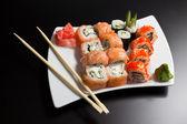 Japanese sushi seafood — Stock Photo