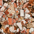 Royalty-Free Stock Photo: A pile of old broken red bricks
