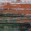 Stock Photo: Close-up of old painted boards