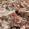 A pile of old broken red bricks — Stock Photo