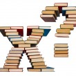 Alphabet made out of books, letters X and question mark — Stock Photo #49163633