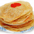 Royalty-Free Stock Photo: Red caviar on pancakes