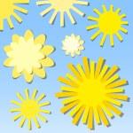 Set of the sun. Vector illustration — Stock Vector #24580195
