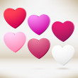 3D - hearts. Vector illustration — Stock Vector