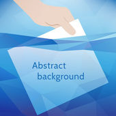 Abstract background: paper in blue water. Vector illustration — 图库矢量图片