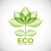 Eco label. Vector illustration — Stock Vector