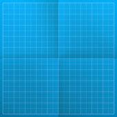 Modrotisk. vektorové ilustrace — Stock vektor