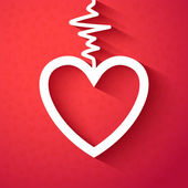 Valentine's Day a frame - heart. Vector illustration — Vector de stock