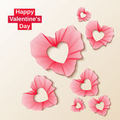 Valentine's Day a frame - hearts. Vector illustration — Vector de stock