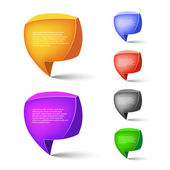 Speech bubbles. Vector illustration — Stock Vector