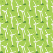 Wind power generators. Vector seamless pattern - Векторная иллюстрация